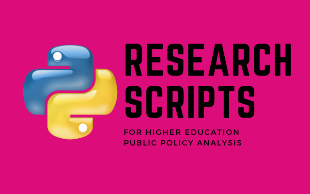 Higher Ed Research Scripts